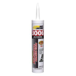 White Lightning - W12AF0010 - White Caulk, Hybrid, 10.0 oz. Cartridge