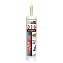 White Lightning - W12002010 - Almond Caulk, Hybrid, 10.0 oz. Cartridge