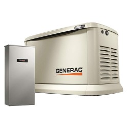 Generac - 7043 - Air Engine Cooling, 120/240VAC Voltage, Engine Size: 999cc, 22 LP/19 NG kVA Rating, 1 Phase