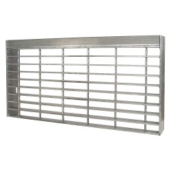 Direct Metals - 23188R125-TRD2 - Stair Tread, Serrated Surface, 24 Tread Width, 7.375 Tread Depth