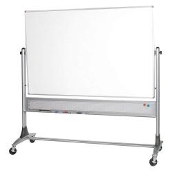 Best-Rite / MooreCo - 669RG-DC - White Porcelain Steel/Cork Combination Bulletin Board, Steel Frame Material, 72 Width, 48 Height