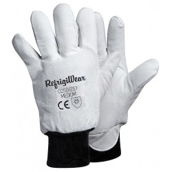 Refrigiwear - 0250RGRAMED - Cold Protection Gloves, Fleece Lining, Knit Wrist Cuff, Gray, M, PR 1