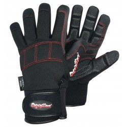 Refrigiwear - 0291RRBKXLG - Cold Protection Gloves, Fleece Lining, Knit Wrist Cuff, Red/Black, XL, PR 1
