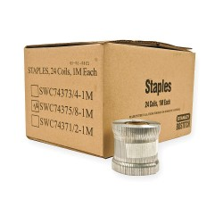 Stanley Bostitch - SWC74375/8-1M - Carton Closing Staple Coil, Top, Heavy Duty, Staple Capacity 1000, Crown 1-3/8