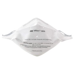 3M - 1805 - N95 Healthcare Disposable Respirator, White, Universal, 50PK