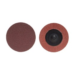 Merit Abrasives - 69957399712 - 2 Quick Change Disc, Aluminum Oxide, TR, 120 Grit, Fine, Coated, R228, PK100