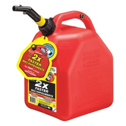 Scepter - 10445 - Gas Can, Red, 5 gal., 14-51/64 H, Plastic