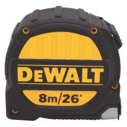 Dewalt - DWHT33991L - 26 ft./8m Steel SAE/Metric Tape Measure, Yellow/Black