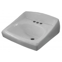 Sloan Valve - SS-3103-A - Vitreous China Wall Bathroom Sink Without Faucet