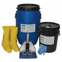 Acid Eater - 1006-015 - Acid Neutralizing Spill Kit, Neutralizes Acids, Granular, 15 gal.