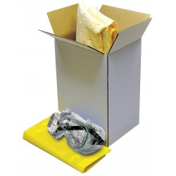 Safety Solutions - 205071 - Spill Kit/Station, Box, Chemical, Hazmat, 2 gal.