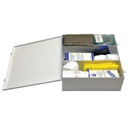 Safety Solutions - 222000 - Spill Kit/Station, Wall Mounted Cabinet, Chemical, Hazmat, 1 gal.