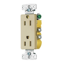 Bryant Electric - RRD15SI - 15A General Purpose Receptacle, Ivory; Tamper Resistant: No