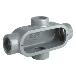 Hubbell - X28 - X-Style 3/4 Conduit Outlet Body, Threaded Iron, 8.0 cu. in.