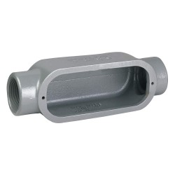 Hubbell - C38 - C-Style 1 Conduit Outlet Body, Threaded Iron, 12.2 cu. in.