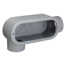 Hubbell - T68 - T-Style 2 Conduit Outlet Body, Threaded Iron, 105.0 cu. in.