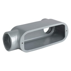 Hubbell - OLB-0 - Hubbell-Killark OLB-0 Conduit Body, Type: LB, Size: 4, Series 5, Aluminum