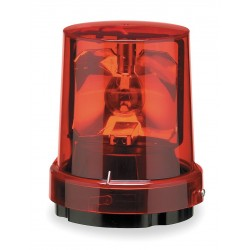 Federal Signal - 121S-120R - Federal Signal 121S-120R Beacon, Rotating, Incandescent, Color: Red, Voltage: 120V AC