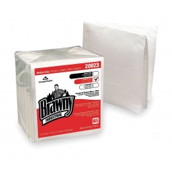 Georgia Pacific - 20023 - White DRC (Double Re-Creped) Disposable Wipes, Number of Sheets 65, Package Quantity 18