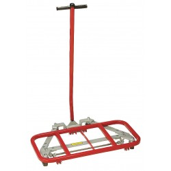 Raymond Products - 2300 - Raymond Products 2300 Mighty King Desk Lift Hand Truck - 600 lb Capacity - 4 - Steel, Vinyl, Hard Rubber - 164.75, 10.75 - Red