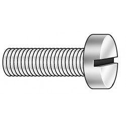 Other - 010632F025 - #6-32 Machine Screw with Fillister Head Type, Natural Finish, Nylon, 50 PK