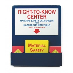 Accuform Signs - ZRS722 - MSDS Center Board Kit, Aluminum