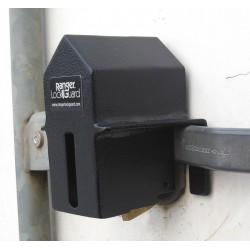 SGM Enterprises - RGSE-00 - Hardened Steel Elongated Lock Padlock Guard, 4H x 6-1/2W x 5L, Black