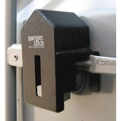 SGM Enterprises - RGUN-00 - Hardened Steel Elongated Lock Padlock Guard, 4H x 5W x 7L, Black