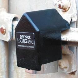SGM Enterprises - RGCU-00 - Hardened Steel Standard Lock Padlock Guard, 3-1/2H x 2-1/4W x 2-3/4L, Black