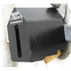 SGM Enterprises - RGEX-0L - Hardened Steel Elongated Lock Padlock Guard, 3-1/2H x 4-1/4W x 4L, Black