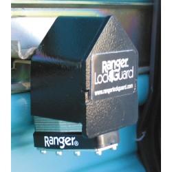 SGM Enterprises - RGRC-5L - Hardened Steel Standard Lock Padlock Guard, 1-3/4H x 4W x 2-1/2L, Black