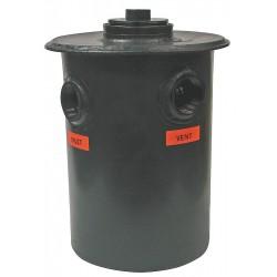 Watts Water Technologies - 4-332-55 - 22-1/2 x 33-1/2 55 gal. Polyethylene Dilution Tank, Black