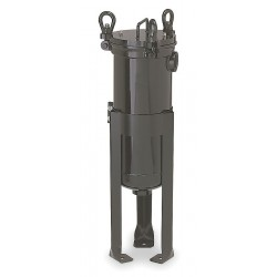 Pentair - 156125-75 - 2 (F)NPT Carbon Steel Bag Filter Housing, Bottom Outlet, 220 gpm