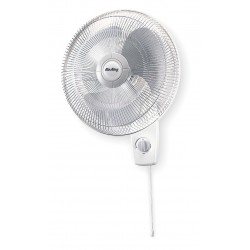 Air King - 9016 - Air King 9016 Wall Mounted Fan - 16 Diameter - 3 Speed - Oscillating, Adjustable Tilt Head - 22.6 Height x 14.4 Width - Steel, Plastic - White
