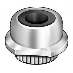 Other - 4CAF6 - #6-32 Captive Nut With Nylon Insert, Zinc Plated, Steel, PK10