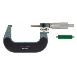 "Mitutoyo - 193-213 - Ratchet Thimble Digital Micrometer, 2 to 3"" Range (In./mm)"