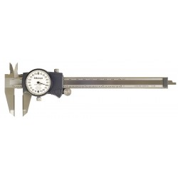 "Mitutoyo - 505-718 - 6"" Dial Caliper With Outside Carbide Jaws"