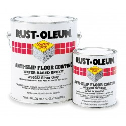 Rust-Oleum - AS6086425 - Flat Polyamine Epoxy Anti-Slip Floor Coating, Navy Gray, 1 gal.