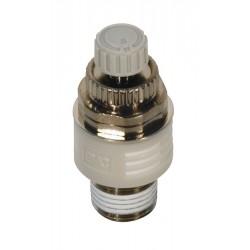SMC - ASN2-01 - 1/8 R(PT) Nickel Plated Brass Exhaust Port Flow Control