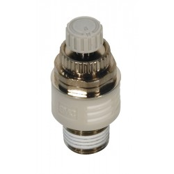 SMC - ASN2-02 - 1/4 R(PT) Nickel Plated Brass Exhaust Port Flow Control