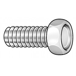 Other - 010832H100 - #8-32 Machine Screw with Hex Head Type, Natural Finish, Nylon, 50 PK