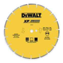 "Dewalt - DW4746 - 14"" Segmented Rim Asphalt/green Concrete Blade"