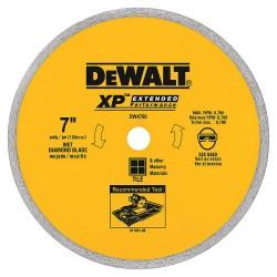 "Dewalt - DW4760 - 7"" Wet Diamond Saw Blade, Segmented Rim Type"