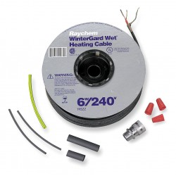 TE Connectivity - H622100 - 100 ft. Self Regulating Heating Cable, Wet or Dry, Max. Circuit Length 375 ft., 240VAC