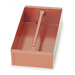 Jobox - 624990D - Brown Tote Tray, Height (In.): 4, Width (In.): 8, Length (In.): 16-3/16