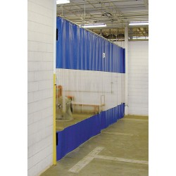 TMI - 999-00079 - Blue Manual Slide Universal Mount Curtain Wall 6 ft.W x 12 ft.H
