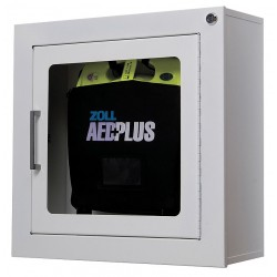 Zoll Medical - 80000855 - Zoll Aed Plus Standard Size Cabinet With Audible Alarm - Metal - White...