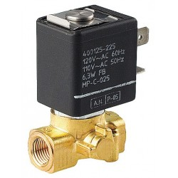 Asco - SC8256B045V - 120VAC Brass Solenoid Valve, Normally Closed, 1/8 Pipe Size