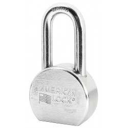 American Lock - A701D - Different-Keyed Padlock, Open Shackle Type, 2 Shackle Height, Silver