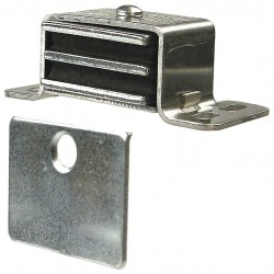 Monroe - 4FCV1 - Magnetic Non-locking Double Sided Magnetic Catch, 2-1/16H x 1W, Aluminum Finish